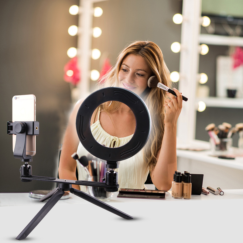 cheapest 1pcs USB Charge LED Selfie Ring Light Fill Light Rechargeable For Mobile Phones Flash Photo Phone Accessories