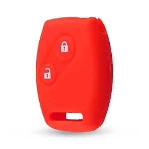 Image 4 - Keyyou 스포츠 스타일 실리콘 2 버튼 키 케이스 커버 혼다 CR V civic fit freed stepwgn key 무료 배송