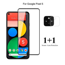 For Google Pixel 5 Front Screen Protector Protective Tempered Glass & Camera Lens Film