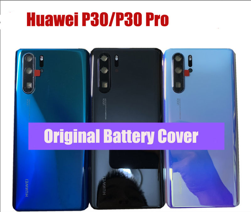 Original Back Cover For Huawei P30 Back Battery Cover Rear Glass Housing For Huawei P30 Pro Repair Parts+Camera Frame+Lens Flash