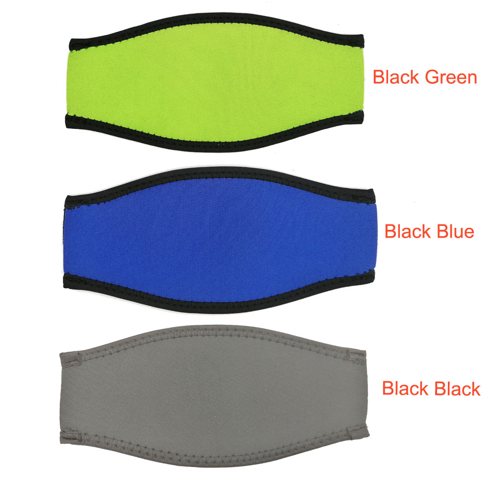 Logo Printing Neoprene Scuba Diving Mask Strap Cover Padded Protect Long Hair Band Strap Wrapper Club Store Customized