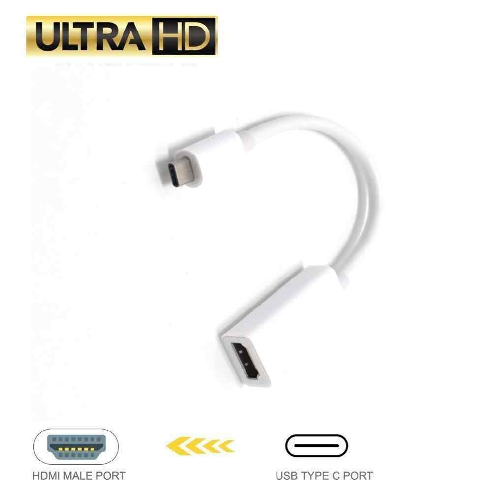 4K * 2K نوع C إلى محول HDMI USB 3.1 نوع C الذكور إلى HDMI أنثى محول USB-C كابل لسامسونج S8 بوك هواوي Mate10 P20