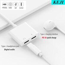 USB tipo C a 3,5mm auriculares Jack carga convertidor USB adaptador para iPad Pro Pixel 3 3XL Huawei P30 Mate20 Sumsung Note10 S9 10