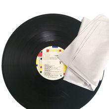 2PCS 40X40ซม.ดูดซับน้ำ Suede Deerskin ผ้าขนหนูทำความสะอาดผ้าสำหรับ LP ไวนิลทำความสะอาดชุดอุปกรณ์เสริม