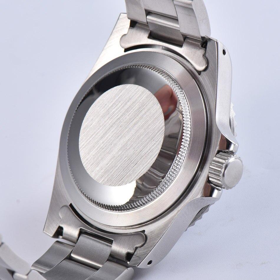 Relógio acrílico 39.5mm dome japonês nh35 movimento