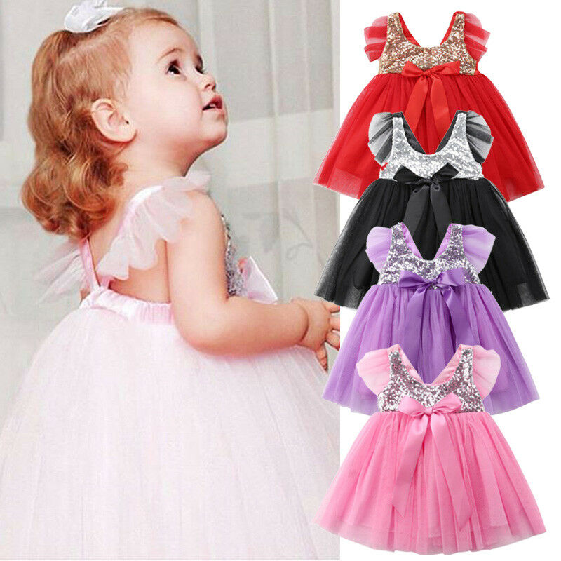 Kids Toddler Girl Dresses Wedding Pageant Party Dress Lace Tassel Gown Sundress