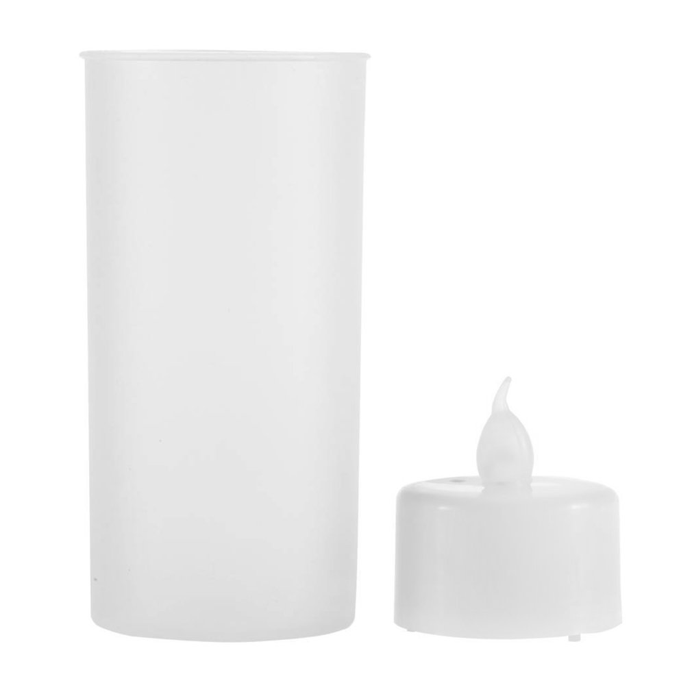 ICOCO 1 PC Shake Sound Romantic Flameless Blow Sensor LED Candle Tea Light Semitransparent Cup LED Candle Light Stock Offer