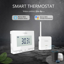 SASWE TUYA wifi умный термостат контроллер температуры для газового котла/беспроводной комнатный термостат работает с Alexa Google Home
