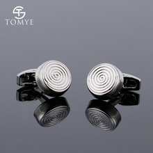 TOMYE Funny Round Cufflink Gold Silver Engraved Mens Shirt Customised Cufflinks Gift XK19S0105