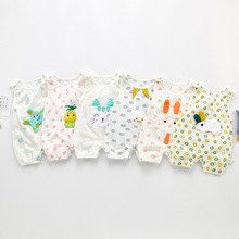Newborn Baby Boys Girls Jumpsuit Cute Cartoon Short-sleeved Baby Romper Babies Infant Toddler Fashion Thin Pure Cotton Clothes newborn baby baby boys girls summer clothes pure cotton go out rompers short sleeved jumpsuit baby boys climbing clothes pajamas