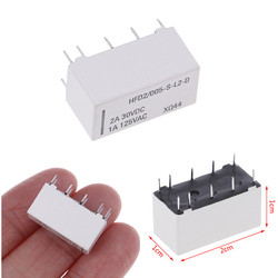 12V Coil Bistable Latching Relay DPDT 30VDC 2A 1A 125VAC HFD2/005-S-L2-D Realy Wholesale