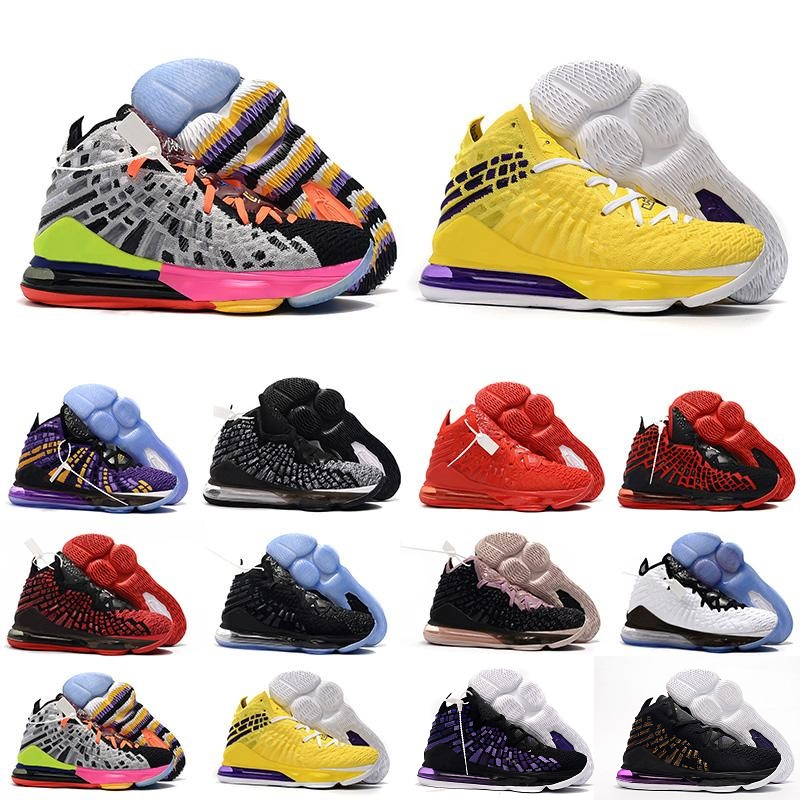 US $43.69 5% OFF|2020 17 Basketball Shoes 17s Martin lebron Remix Red Black White Yellow Multicolor SuperBron Sneakers Trainers james Size 40 46 in