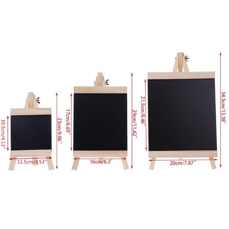 Desktop Message Blackboard Easel Chalkboard Kids Wood Writing Boards Collapsible DXAC
