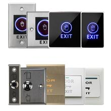 Release-Switch-Opener Led-Light Door-Access-Control-System Push-Button Open-Touch Exit