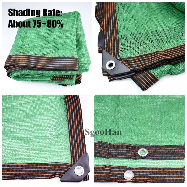 Anti UV HDPE Green Sun Shading Net Outdoor Sunshade Net Garden Shelter Canopy Succulent Plant Gazebo