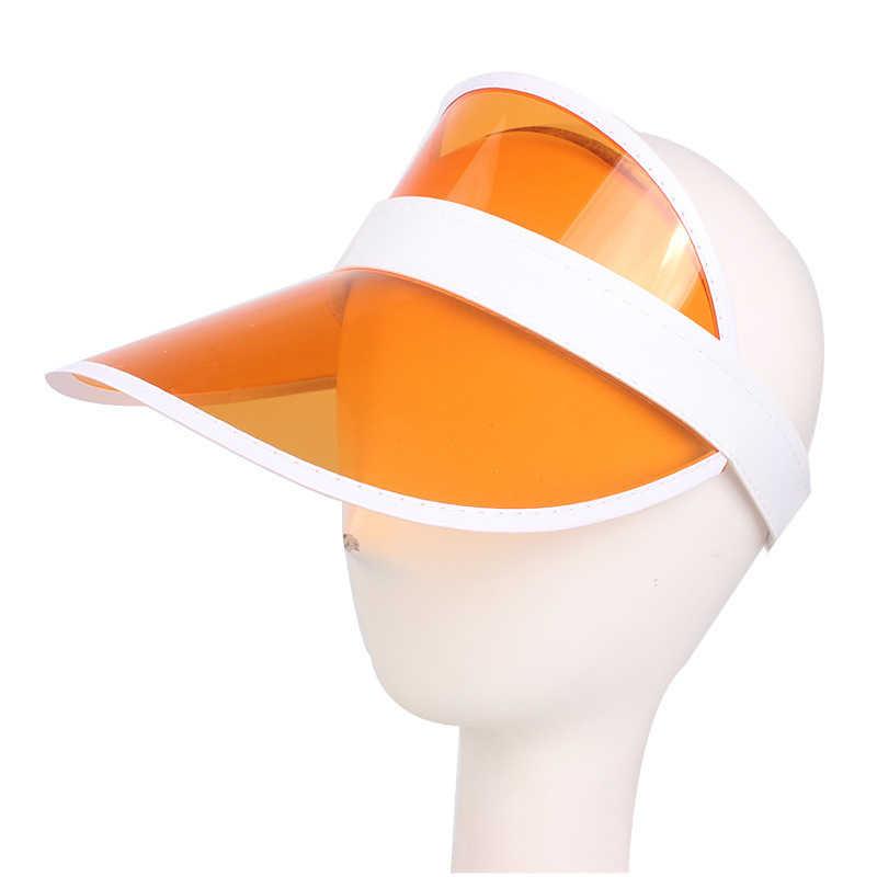 2019 nouvelles dames PVC pare-soleil chapeau bandeau chapeau Protection UV Transparent en plein air été plage mode parasol chapeau
