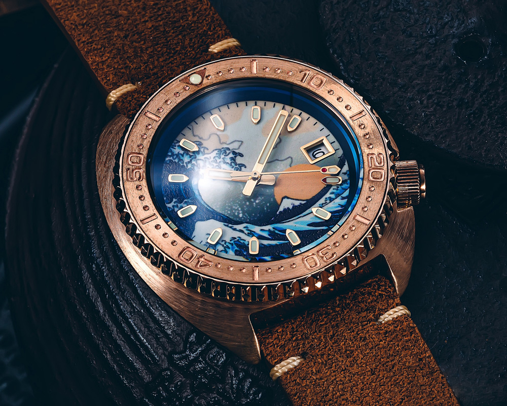 luminosa dial safira 200m resistência à água