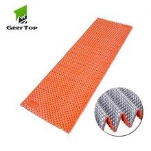 GeerTop 1 человек сверхлегкий рюкзак спальный коврик портативный кемпинг матрас одеяло для пикника Водонепроницаемый Пляжный коврик открытый надувная кровать