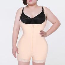 Frau Dünne Unterwäsche One Piece Bodysuit Shapewear Dame Unterbrust Körper Shapers Plus Größe Taille Trainer