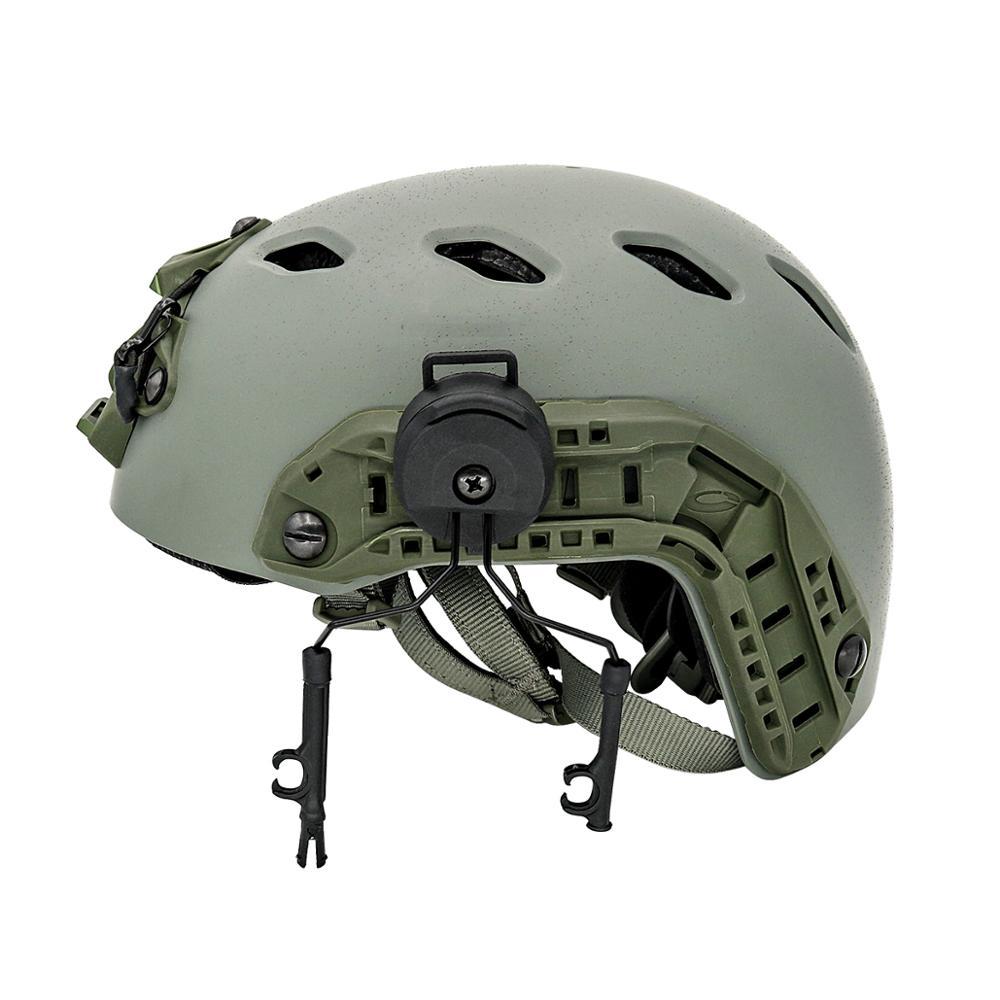 Купить с кэшбэком ARC Rail Adapter Helmet Headset Left & Right Side Attachments for Peltor Comtac Series Tactics Headphones,1 Pair