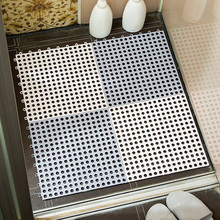 все цены на 2/4 pcs Non-slip Bath Mats Bathroom Square PVC Bathmats Home Kitchen Floor Mats For Toilet Bathroom Carpet Shower Mat Bath Rug