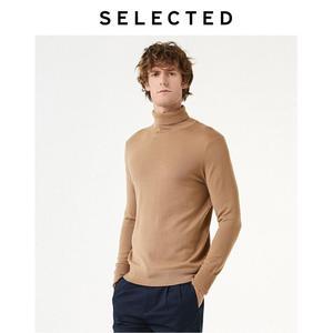 Image 3 - Select nouveau 100% laine à col haut tricoté pulls hommes col roulé hiver pull S