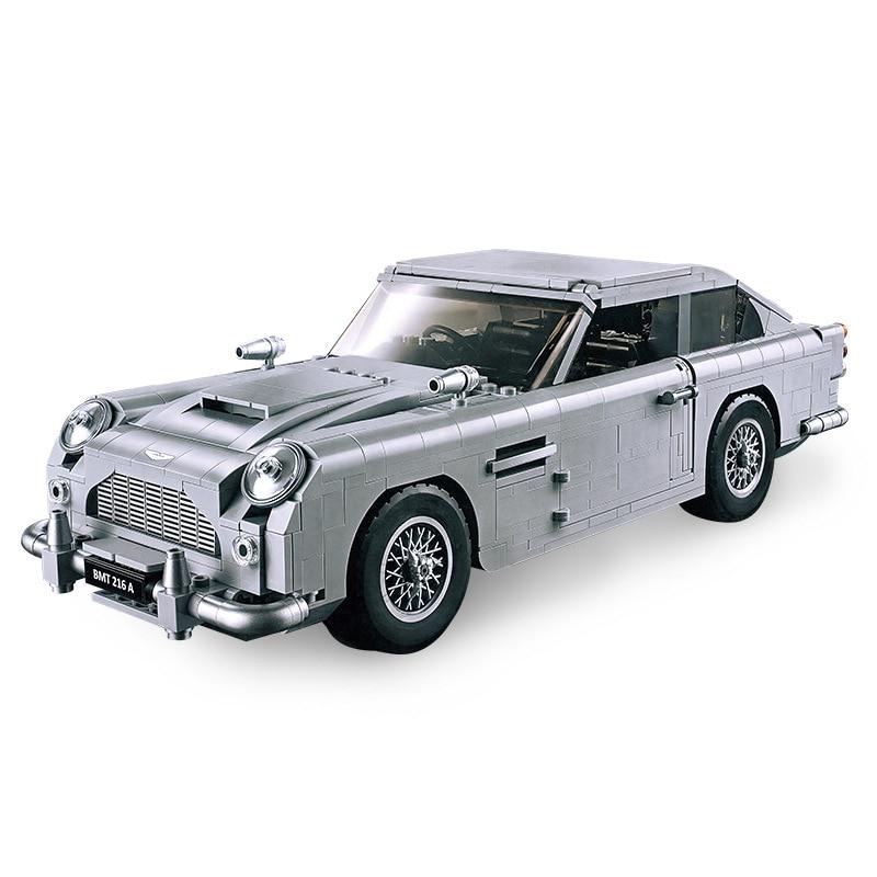 MOC Technic Hot Creator James Bond знаменитая модель автомобиля Aston DB5, строительные блоки, кирпичи, игрушки, совместимы с Lepining