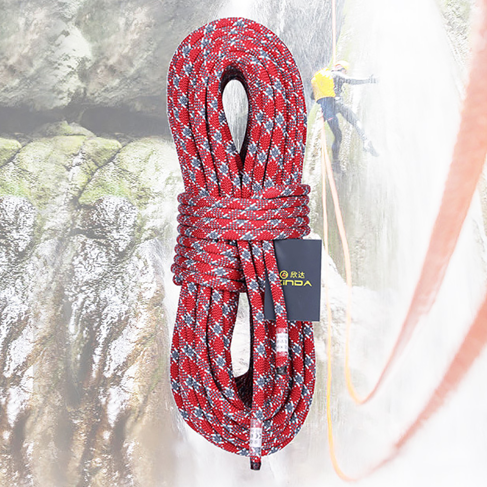 Wear Resistant Climbing Rope 5 Meters Outdoor Emergency Rope 9mm/10mm/11mm Diameter High Strength Hiking Accessory Tool
