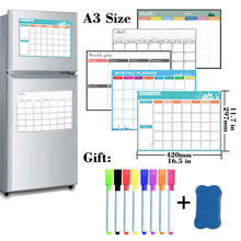 Fridge Sticker Whiteboard Calendar Table Weekly-Planner Dry-Erase Monthly Magnetic Schedules