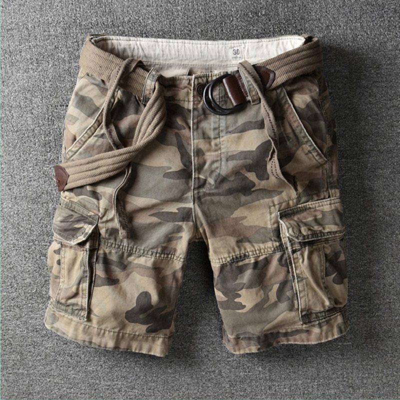 Cargo Short Men 2020 Fashion Brand Designer Summer Hot Luxury Quality Breeches Male Cotton Retro Camouflage Military Camo Shorts
