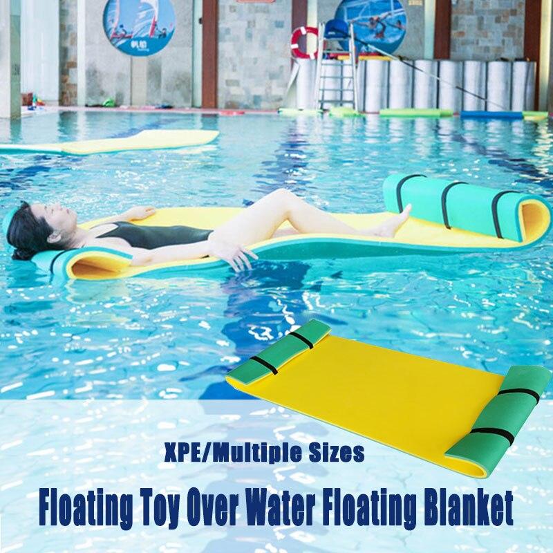 Sobre el agua flotante juguete manta de agua almohadilla de cama flotante manta de agua más suave flotador tipo alfombra entretenimiento al aire libre