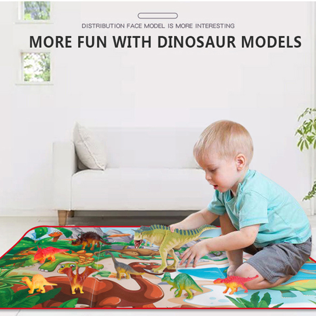 2 в 1 складной ящик для хранения динозавров сцена Ползания коврик Имитация Динозавра модель обучающая игрушка Рождественский подарок для де... - 4