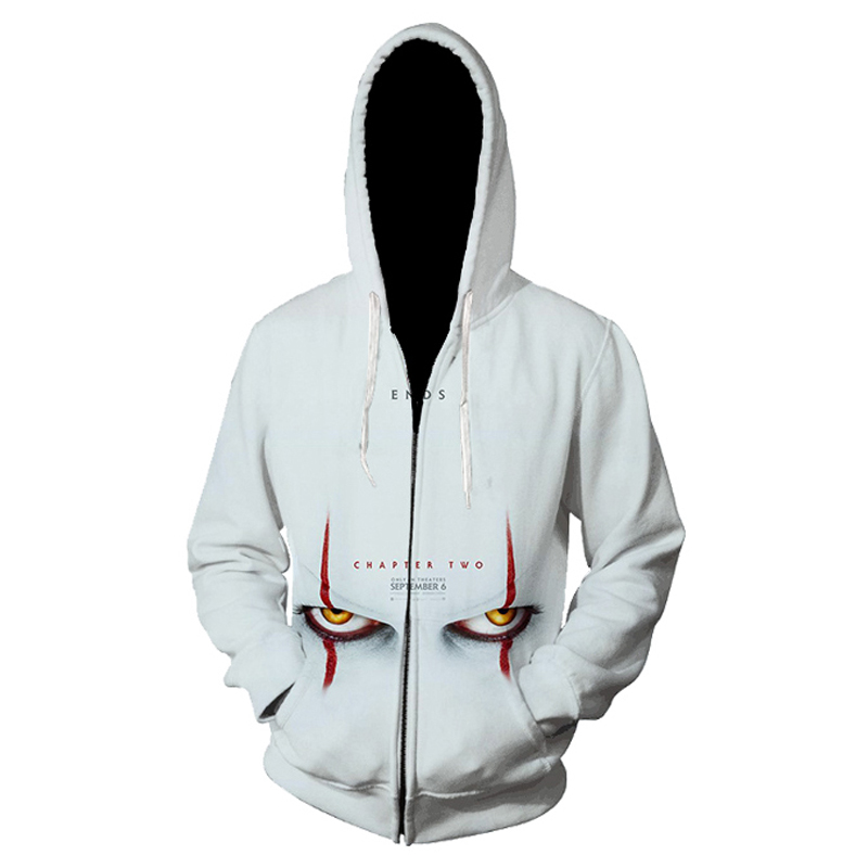 Amerian Horror Movie IT Clown Chapter Two 3D Printed Hoodie Sweatshirts Men Women Film Pullover Personality Oversized Hoodies