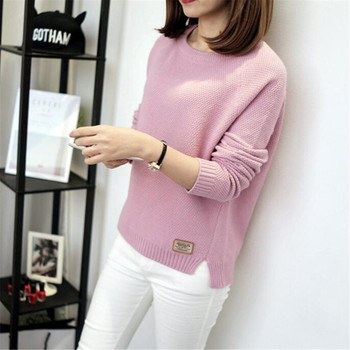 Women Sweaters And Pullovers Women 2020 Cashmere Sweater Fashion O Neck Solid Color Long Sleeve Knitted Sweater цена 2017