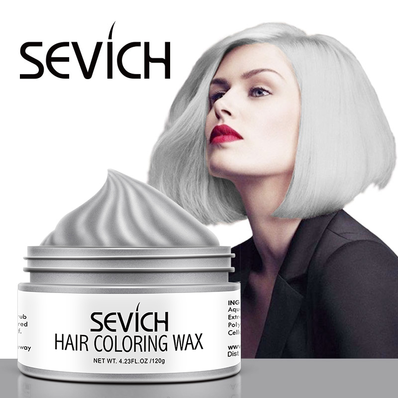 Sevich 120g Hair Color Wax For Unisex Temporary Hair Color Cream Molding Instant Hair Dye Gel One-Time Hair Styling Paste