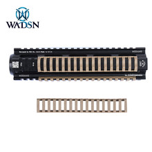 WADSN 5pack/lot Tactical 18-Slot Rail Cover Rubber Hunting Handguard Heat Resistant Rail Panel Mount 4 pcs Fit 20mm Picatinny(China)