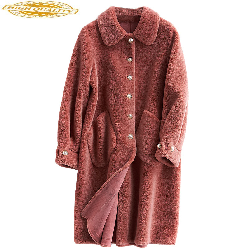Real Wool Fur Coat Women Clothes 2020 Long Winter Jacket Women Korean Sheep Shearing Coats Manteau Femme Hiver 231133