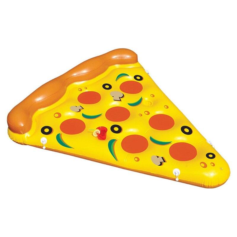 Lit flottant gonflable 180cm Pvc Pizza tranche radeau anneau de natation matelas d'air flotteur rangée adulte piscine eau jouet bain Beac