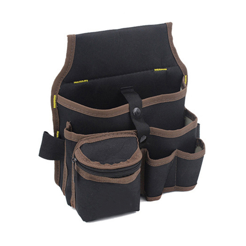 Multifuction Oxford Cloth Waist Tool Bag Waterproof Electrician Waist Storage Pocket Pouch 600D Double Layer Oxford Cloth