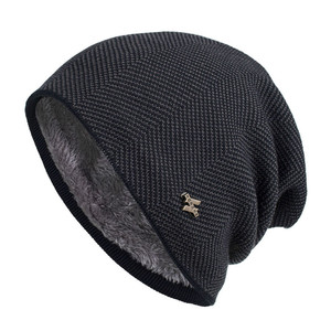 Men Winter Warm Hat New Fashion Adult Unisex Knitted Casual Beanies Skullies Cotton Wool Hats Brand Outdoor Solid Gorros(China)