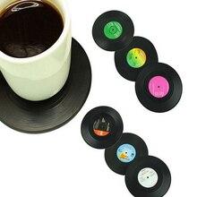 Vintage Record posavasos accesorios de mesa estera mantel creativo café tazón taza posavasos resistente al calor antideslizante almohadillas