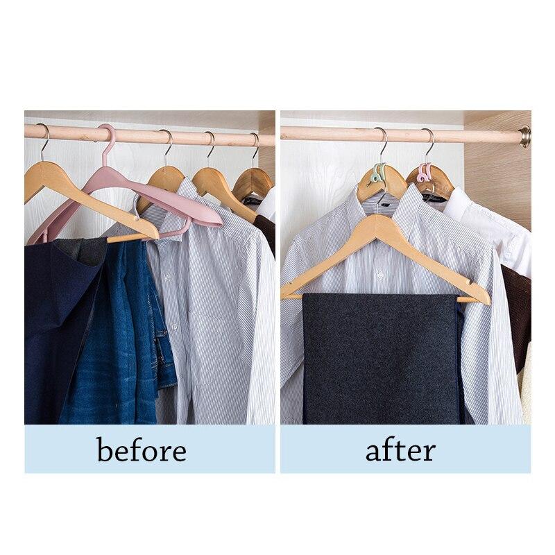 10Pcs Creative Mini Antislip Clothes Hanger Home Easy Hook Closet Organizer Storage Rack Holder hanger Hook