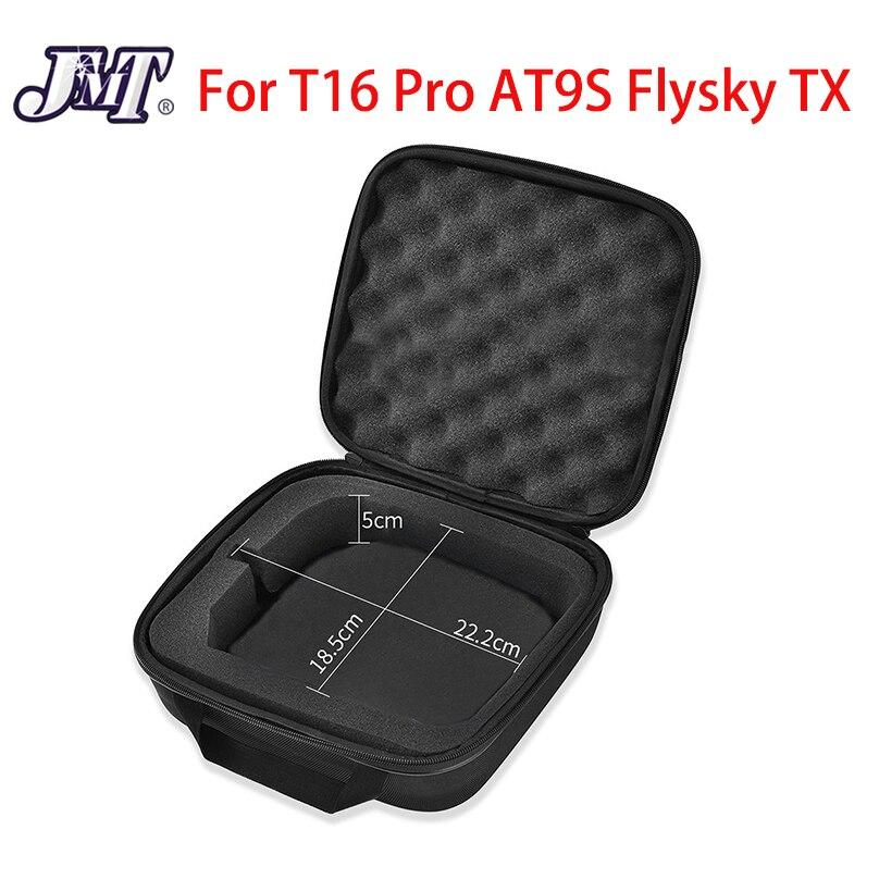 Oyuncaklar ve Hobi Ürünleri'ten Parçalar ve Aksesuarlar'de JMT saklama çantası için taşınabilir evrensel durumda Jumper T16 Pro FrSky X9D için radyolink AT9S AT10 Flysky WFLY radyo kontrol TX title=