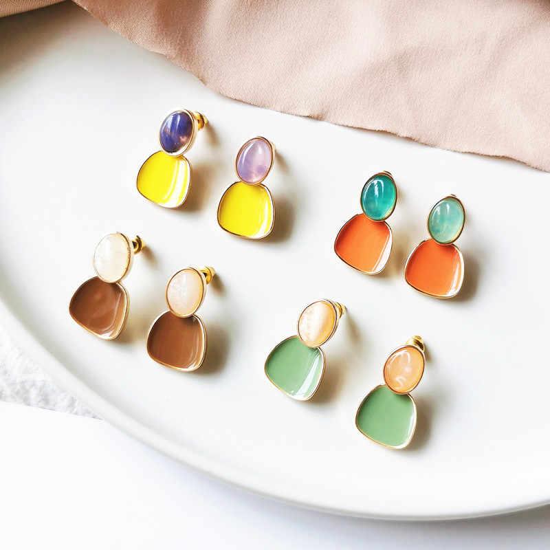 Colourful irregar resin earrings