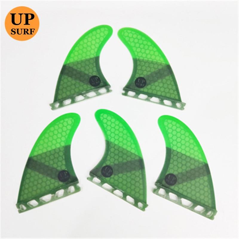 New Design Upsurf Future Fin K2.1 Surfboard Fins Fiberglass Honeycomb Tri-Quad Fins Quilhas Thruster 5 Fin Set