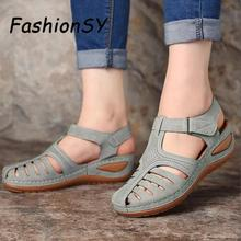 Woman Summer Vintage Sandals Buckle Casual Sewing Women Shoes