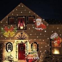 12 padrões de natal laser floco de neve projetor ao ar livre led à prova dwaterproof água em movimento floco neve casa jardim estrela luz decoração