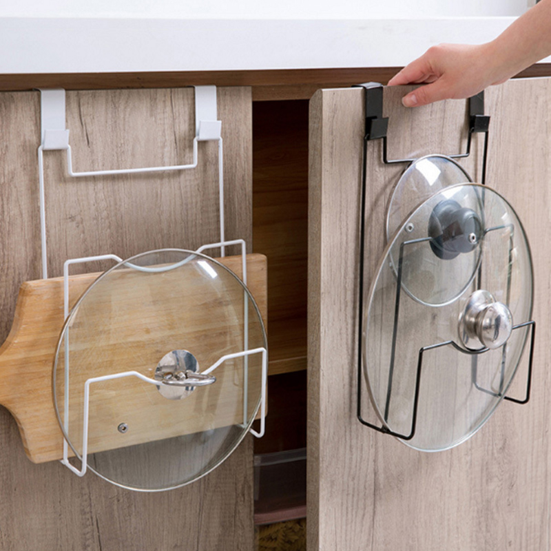 Iron Art kitchen Accessories Pan Pot Lid Rack Kitchen Storage Holder Pot Cover Cutting Board Stand Storage Holder Shelf Organize