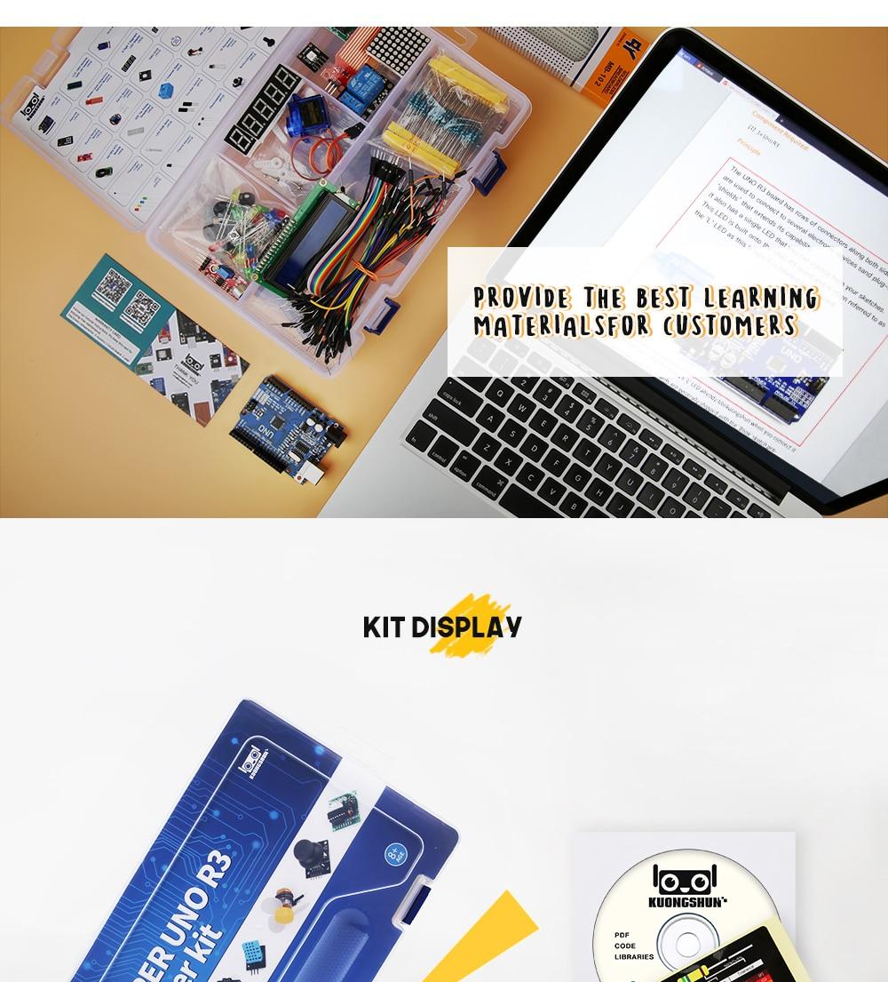 2019 najbardziej opłacalne DIY projekt startowy elektroniczny zestaw do majsterkowania z samouczkiem kompatybilny z Arduino IDE UNO R3 CH340 8