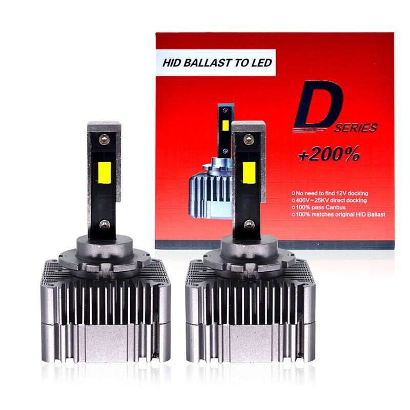 HIDLT 2 uds no destructivo Error Canbus gratis LED D1S D1R D3S 90W PLUG & PLAY directa reemplazar las lámparas de HID D1 D3 bombilla de faro LED